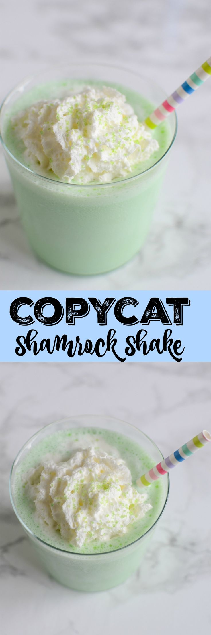 Shamrock Shake - McDonald's copycat recipe! This tastes just like the original! So good!