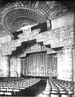 Interior of Grauman's Egyptian Theatre on Hollywood Blvd., 1922 - Follow our podcast https://www.facebook.com/ScreenWolf and https://twitter.com/screen_wolf