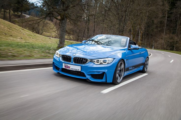 BMW M4 Cabrio: Oben ohne und unten tief!  http://www.autotuning.de/bmw-m4-cabrio-oben-ohne-und-unten-tief/ BMW M4, BMW Tuning News, Cabrio, KW automotive, KW Gewindefahrwerke