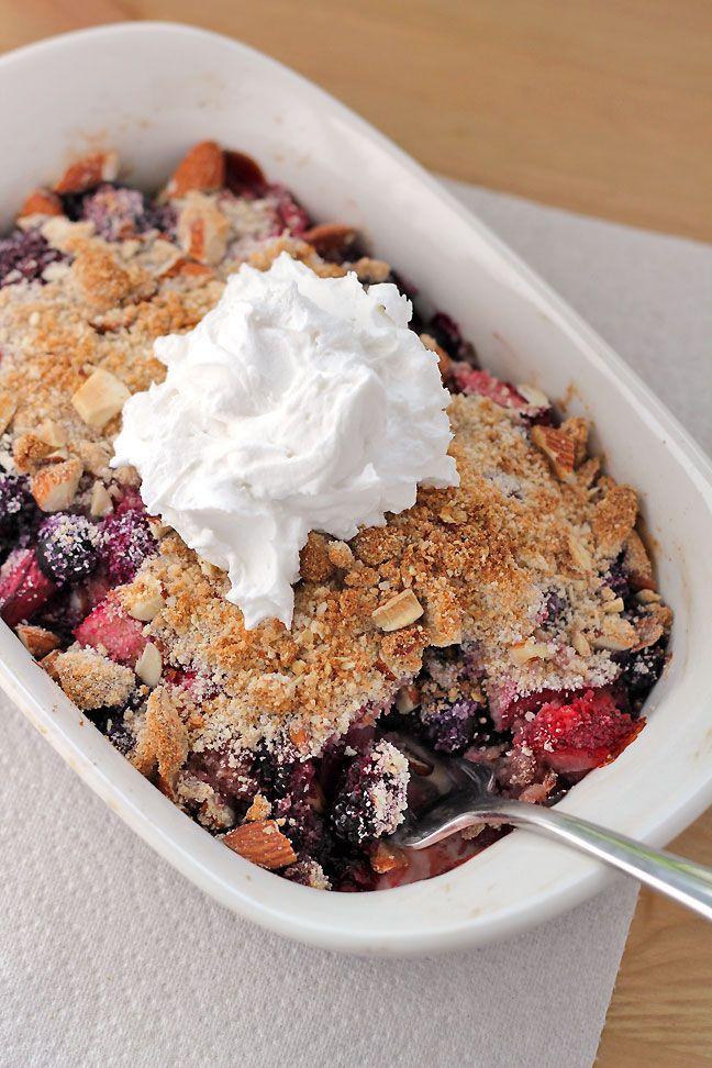 Grain-Free Rhubarb and Berry Crumble