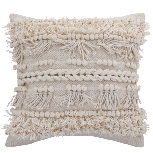 Set 4 Boho Woven Handmade Cushions Home Decor