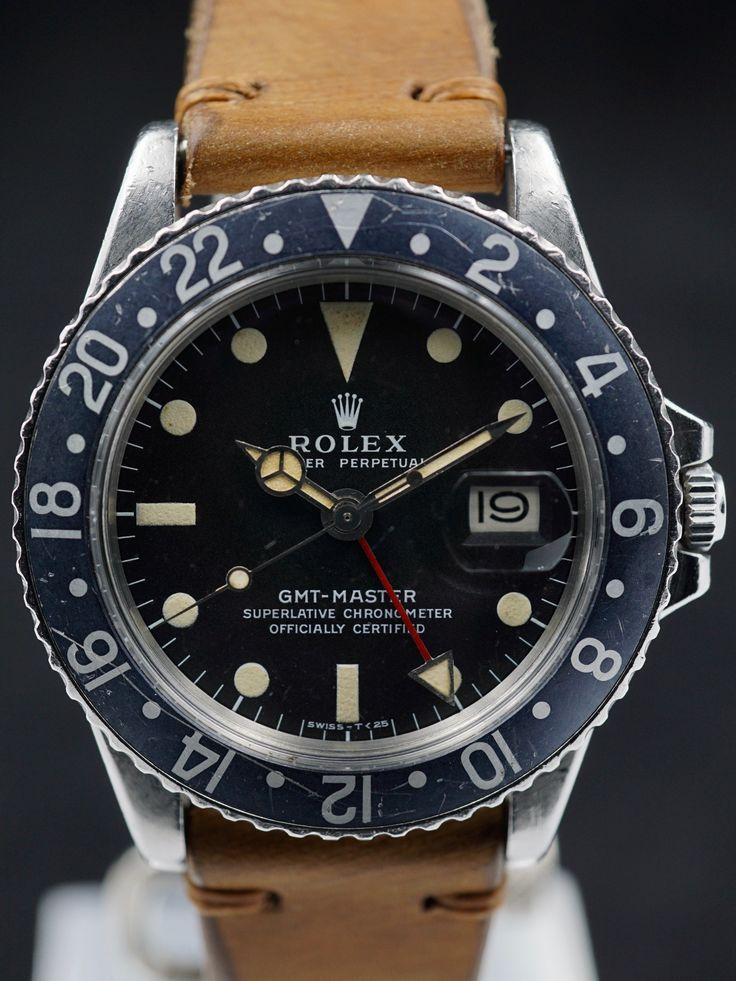 1972 Rolex GMT Master (Ref. 1675) Black Fat Font insert
