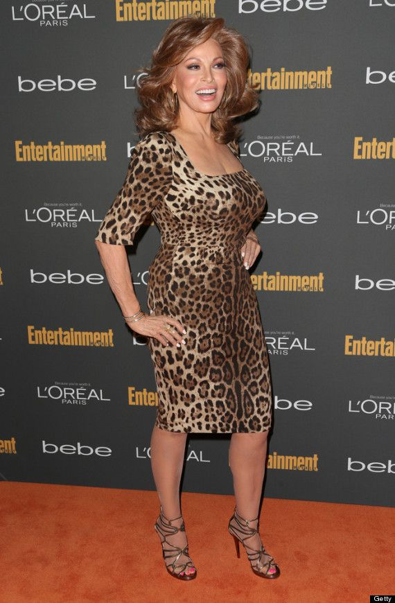 Raquel Welch stunned in leopard print at a pre-Emmy bash this weekend, proving that age is nothing but a number. Age 73