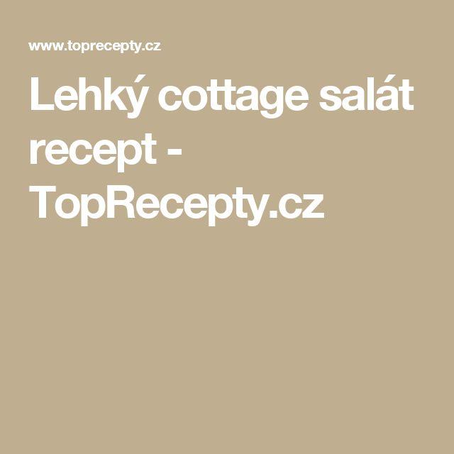 Lehký cottage salát recept - TopRecepty.cz