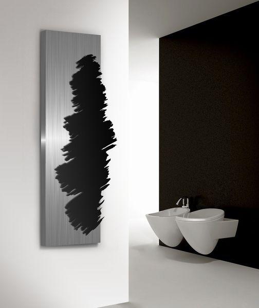 KOONING Kunstwerk aan de wand, verticale radiatoren voor de woonkamer met hoge warmte, in Rvs en aluminium.