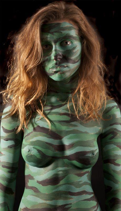 redhead body paint