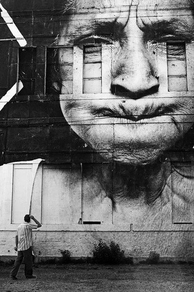 JR! #photography #streetart #girl