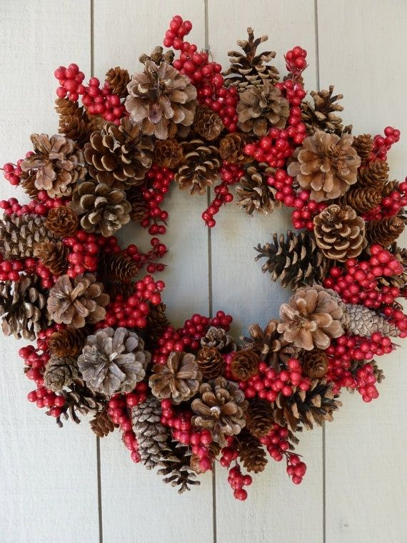 pine cone wreath ideas | ... pine cone wreath! Take the kids to the park to find the pine cones. by