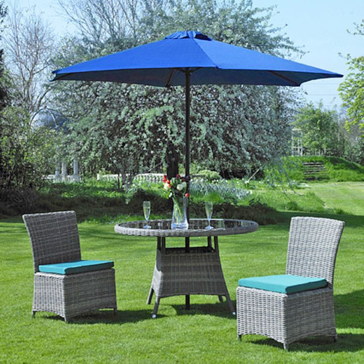 Parasol 2.7m Round Blue with base | Creative Living Patio Furniture