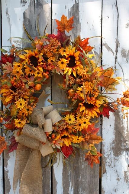 Sweet Something Designs~ Fall Wreath