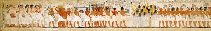 The funeral procession, from the tomb of Ramose - XVIII dynasty ( Sheikh Abd el-Qurna, Theban Necropolis, Egypt)