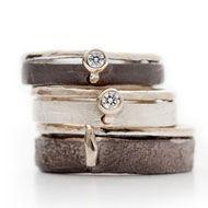 Stoere trouwringen van zilver.