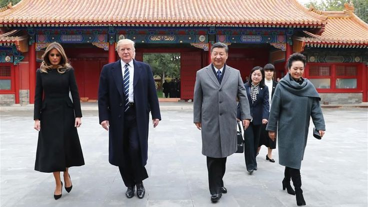 Xi welcomes Trump to China's Forbidden City  - CGTN