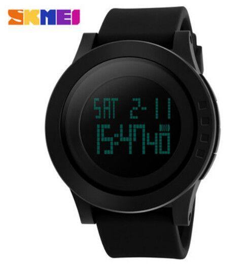 New SKMEI Luxury Brand Men Military Sports Watches Waterproof LED Digital Watch For Men Clock Black Relogio Masculino