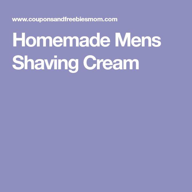 Homemade Mens Shaving Cream