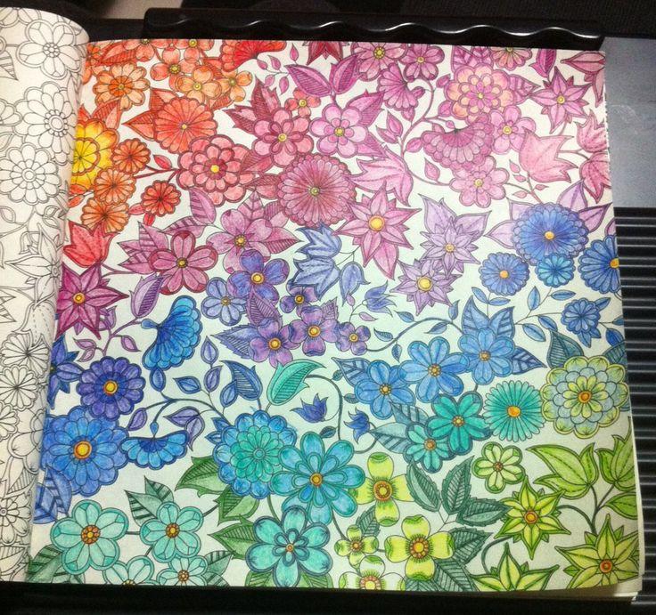 para colorir o livro Jardim Secreto Técnicas para colorir o livro