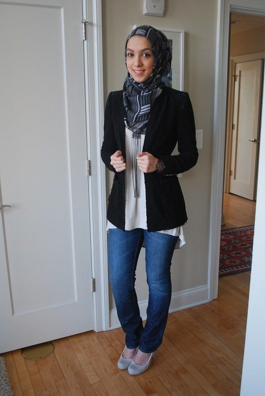 30 Stylish Ways to Wear Hijab with Jeans for Chic look - Part 8