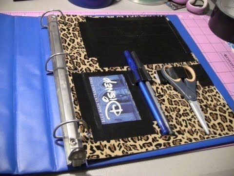 How to make a Duct tape binder pocket page! By DuctTapeStuff
