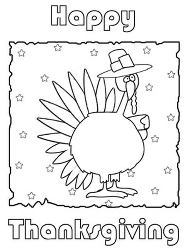 Print a Free Thanksgiving Greeting Card to Send to Family and Friends: Print and Color Thanksgiving Card by Got Free Cards