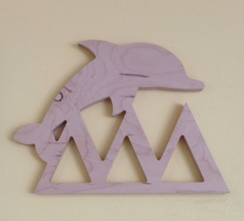 Looking for a unique way to get your Tri Delta craft on? Want to show your big or little your chapter and symbol loyalty? The wooden Symbol with Letters plaque is custom made when you order, but the turn-around is quick - about 10 days. Dimensions are approximately 9.5 inches wide by 12.5 inches tall by 3/4 inches thick. Ready to paint. Other NPC groups available as well.