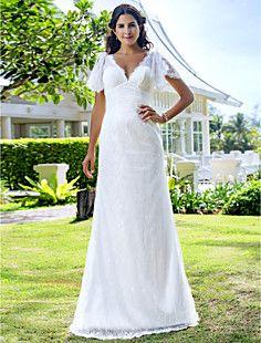 vaina / columna cariño tribunal tren gasa vestido de novia d... – USD $ 127.99