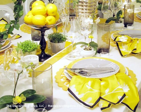 Bright Yellow Sun Kissed Table Decor The Decorating