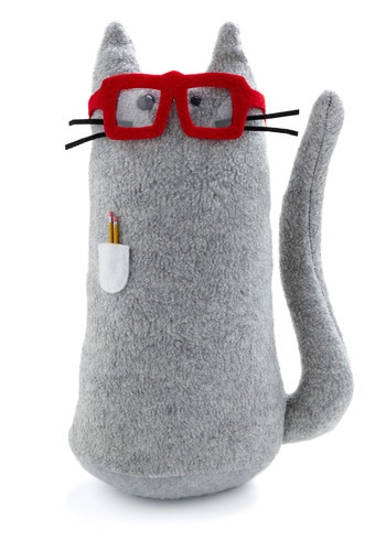 nerd cat softie...maybe mom can make me one of these...hypo-allergenic :)