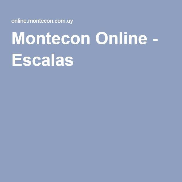Montecon Online - Escalas