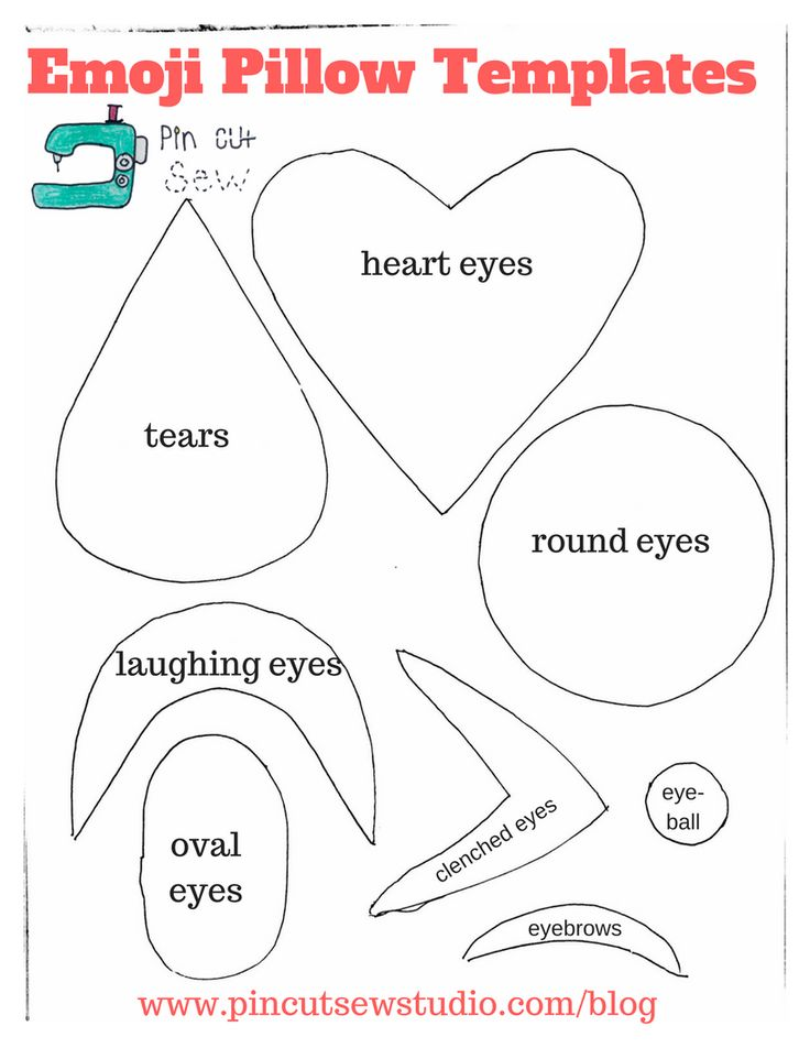 DIY Emoji Pillow, Free Templates — Pin, Cut, Sew