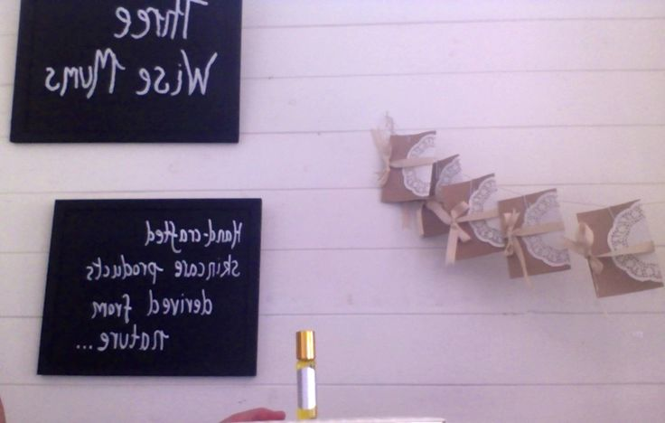 Our lovely Gift Cards hanging in our beautiful store, ready to go.