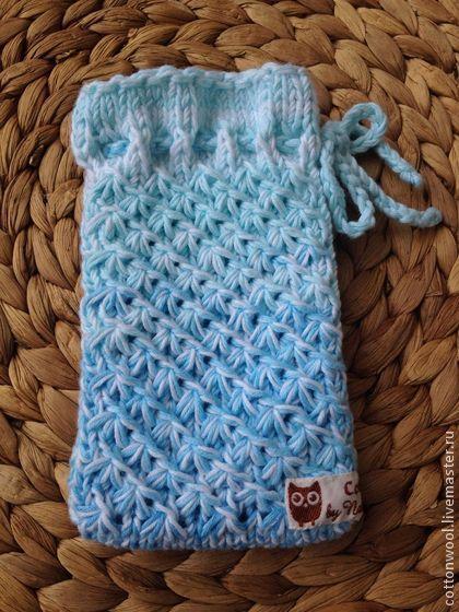 Хлопковый чехол для телефона с мятно-голубым градиентом - бирюзовый,чехол для iphone