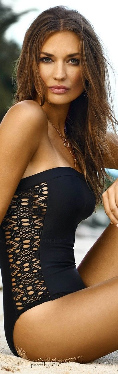 Cute little one piece suit.  For those moments when a bikini is just inappropriate...