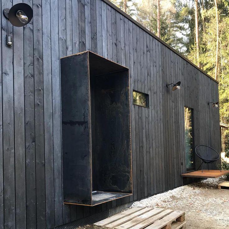 """My black home! on Instagram: """"Fassade endlich fertig! Jetzt muss nur noch das …  #Außenbereich"""