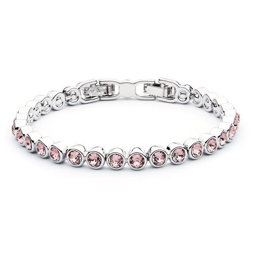 Tennis Bracelet with Light Amethyst Swarovski® Crystals