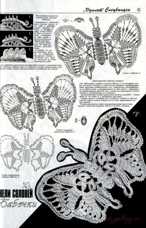 Único Mariposa Patrón De Crochet Libre Elaboración - Ideas de ...