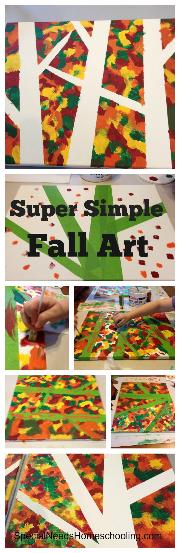 Super simple fall art-Fall Art Worthy of the Livingroom Wall! #homeschooling