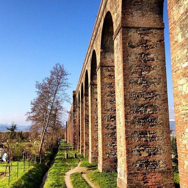 """Intorno al """"monte per che i Pisan veder Lucca non ponno"""" La Via degli acquedotti da Lucca a Pisa"""