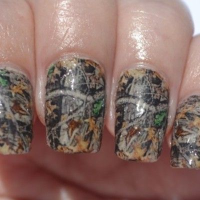 pink camo nail stickers | Mossy Oak Orange Camo French Tip Nail Decals 20-Pack · Southern Rebel ...