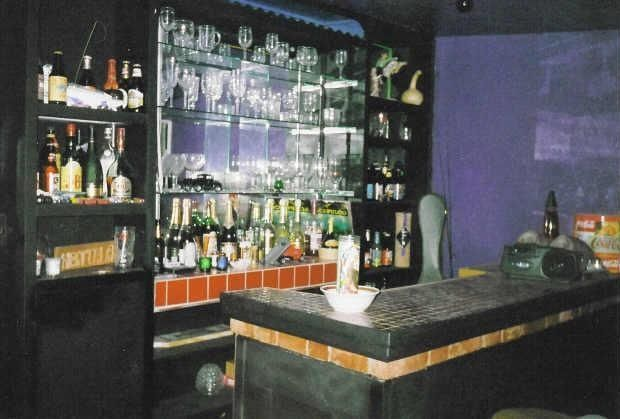 old ugly dark dreary dusty outdated wet bar black paint Phoenix Arizona home house photo