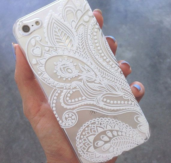 Clear Plastic Case Cover for iPhone 6 4.7 Henna White by STUCHI