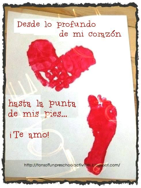 Soy Preescolar: #Ideas para #Febrero  Una buena idea para trabajar con los más pequeños en el salón de clase y un gran recuerdo para sus pap...