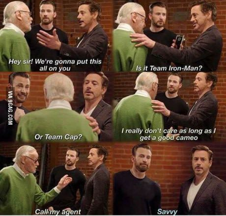 Stan Lee reveals what he thinks about Civil War<<< I agree: just give Stan his cameo