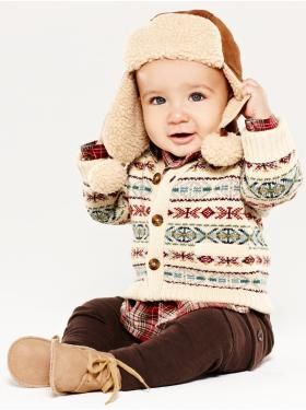 Baby Clothing: Baby Boy Clothing: We ♥ Outfits   Gap. This would make a cute little winter outfit.