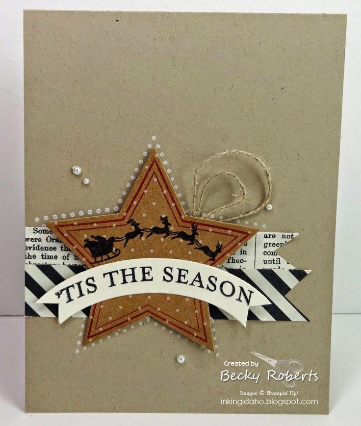 Inking Idaho: Stampin' Up! Many Merry Stars and a Holiday Home Combo