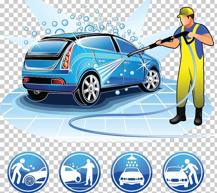 Car Wash Cartoon Illustration Png Blue Car City Car Cleaning Compact Car In 2020 Car Wash Services Car Wash Self Service Car Wash