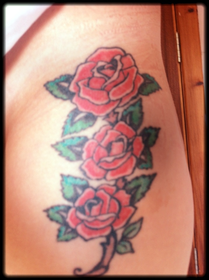 my ed hardy style rose tattoo i got these for my gran who passed with my mum and sister. Black Bedroom Furniture Sets. Home Design Ideas