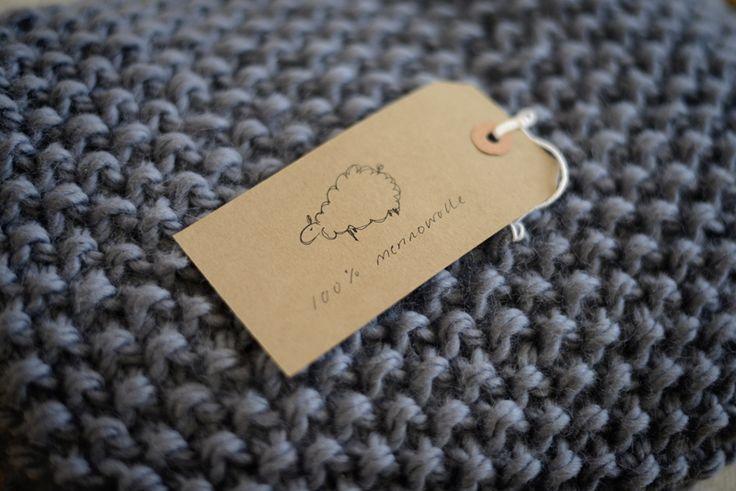 Schöne, aber einfache Babydecke selber stricken nach einem Muster von Purl Bee.