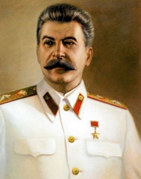 Joseph Stalin, I like the way the corners of his mustache point out like that.