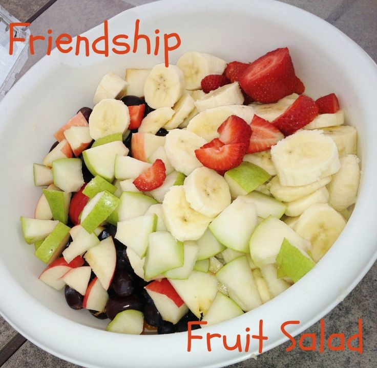 Friendship Fruit Salad - a fun idea for a kids' activity and
