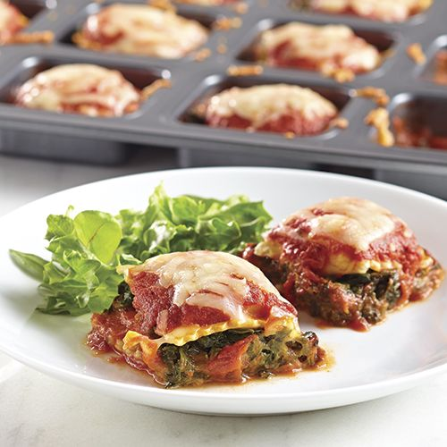 "Mini Spinach ""Lasagna"" Squares - The Pampered Chef®"